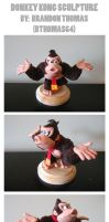 Donkey Kong Sculpture by BThomas64