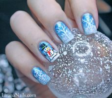 Nail Art Ice Queen by Lizananails