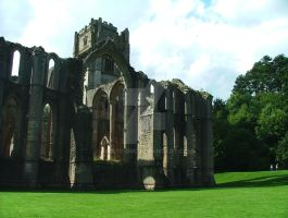 Fountains' Abbey by Binary-Ink