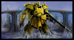 gundam the-O by Plasticbag