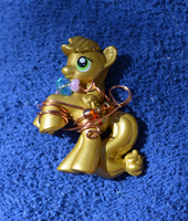 Wire Wrapped blind bag Applejack by AluminumSunset