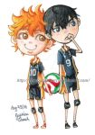 HQ: Kageyama and Hinata by chocoanillaberry