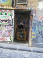 doorway graffiti by LuchareStock
