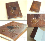 Cogs Steampunk Notebook by izasartshop