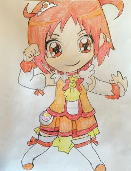 Glitter Force Chibi Series Sunny by Lea Voegeli by CaptainMockingjay
