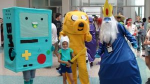 Bmo, Finn, Jake and Ice King from Adventure Time by trivto
