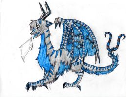 Blue Tiger Dragon by SoulEaterGurl
