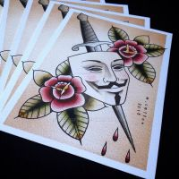 V for Vendetta Print by Michelle Coffee by misscoffee