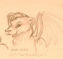 Fire-eyes, sketch by thecrab