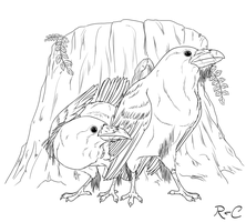 Hugin and Munin by DarkRika