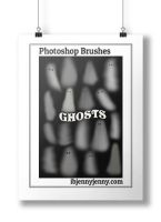 Free Ghosts Photoshop Brushes by ibjennyjenny