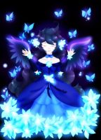 Blue Butterfly by Angelic-Blossoms