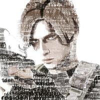 Typograhpic portrait of Leon by ladyshadow-meigua