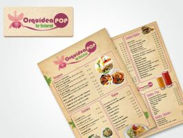 logo orquidea pop y menu by casteloworks
