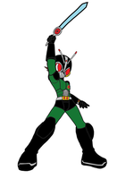 Megaman.EXE and Lan Crossfusion KR Black RX Soul by OmegaRiderSangou
