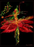The Poinsettia Ballerina by Faera