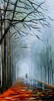 Foggy Path by Leonid Afremov by Leonidafremov