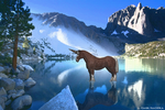 horn horse lake HD wallpaper by Dark-Madoka