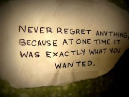 No Regrets by realityhurts123