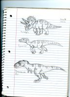 Dinosaur concepts (really old) by Dinoboy134