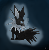 Black Jolteon by growlithefire74