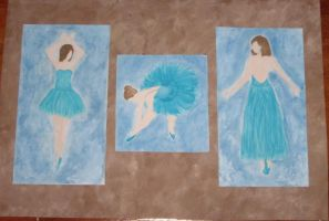 Wall of Ballerinas by Sahh