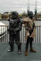 Brotherhood of Steel and NCR Ranger by ArcaneArchery