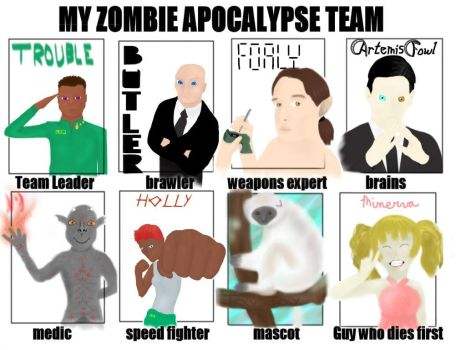 My Artemis Fowl Apocalypse Team by DrippingFlames