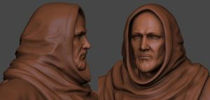 Franciscan Monk Face by ivilai