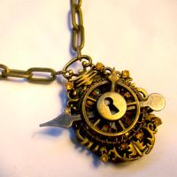 Sunshine Steampunk Necklace V2 by SteamSociety