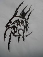 Tribal cat 2 by Wolfwoman24