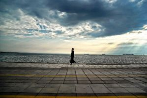 Priest in the harbour by GDALLIS