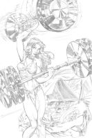 She Hulk pencil by cehnot