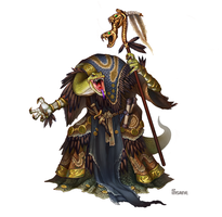 Serpentfolk Priest of Ydersius by Gimaldinov