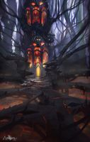 ansyen - underworld forest by CarlosArthur