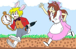 Yuna Follows the White Rabbit by AdentheCaringOne