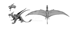 Pterosaurs Creature by Laserbot