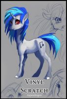 Vinyl Scratch Sketch by Aspendragon