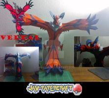 Yveltal papercraft + download by javierini