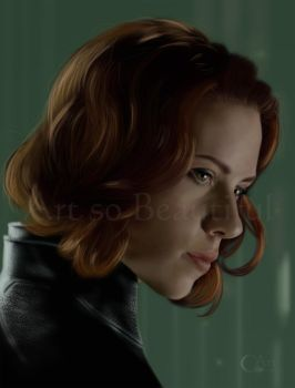 A painting of the Black Widow by jht888