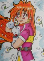 Gift Art: Lina Inverse ACEO card by LadyNin-Chan