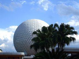 Epcot's Spaceship Earth by Talik13