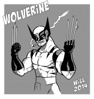 Wolverine bw by Will-Giuliani