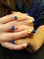 Despicable Me nail art on acrylics. by Chynna97