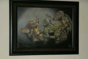 Teenage Mutant Ninja Turtles oil painting by evan3585