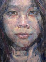 Self Portrait in Oils by irysching