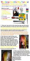Tutorial - Rainbow Wig by oilyraven