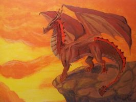 Dragon - Acryl by sophicardia