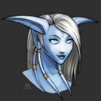 WOW FanArt Draenei Illusional by mizukoiuchi