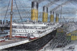 Titanic at Southampton by Hudizzle
